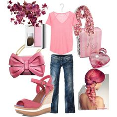 pink, created by kilidica on Polyvore