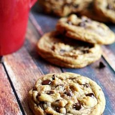 The Best Chewy Café-Style Chocolate Chip Cookies. These are so soft and chewy-- definitely the best chocolate chip cookie I've ever had!