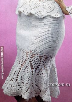 юбка крючком с отделкой