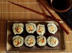 Smoky Tofu Veggie Sushi - Connoisseurus Veg