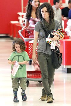Talk-er Sara Gilbert shops at a West Hollywood Target with her daughter Sawyer on April Hollywood Icons, West Hollywood, Sara Gilbert, April 27, Keep It Real, Pregnant Mom, 3 Kids, Amazing Places, Target