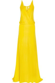 Mason by Michelle Mason Washed-silk georgette gown | NET-A-PORTER
