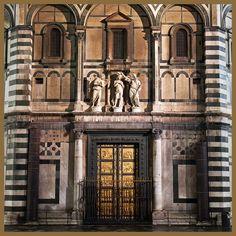 """Lorenzo Ghiberti, puertas orientales del Baptisterio de Florencia.(1425 -1452). Llamadas por Miguel Ángel """" Puertas del Paraíso""""."""