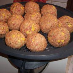 Rezept René s-Hackbällchen mit Sauce mit Kartoffeln .. von Regionalrekord Rene - Rezept der Kategorie Hauptgerichte mit Fleisch