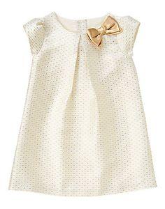 Toddler Girls Gold Dot Gold Dot Jacquard Dress by Gymboree