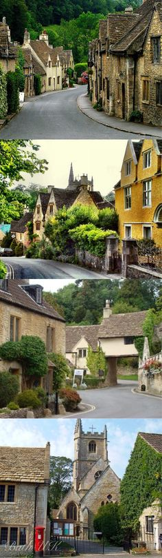 England: Castle Combe Lovely ancient National Trust village in Wiltshire