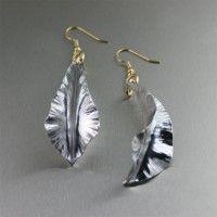 Aluminum Fold Formed Leaf Drop Earrings. Fun and Flirty!   http://www.johnsbrana.com/aluminum-fold-formed-leaf-drop-earrings.html  $65.00