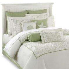 More Coastal style. Light, airy and serene....very pretty!  Harbor House™ Brisbane Comforter Set - BedBathandBeyond.com