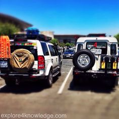 @LandRover #Defender meets #Discovery..... #ExpeditionReady