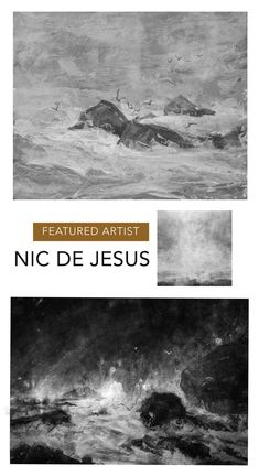 Monochromatic digital seascape art by Nic de Jesus. Available online at StateoftheART Charcoal Artists, Artist Film, Seascape Art, South African Artists, Water Me, Landscape Drawings, Rembrandt, Natural World, Online Art Gallery