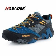 best service 127a7 a29bc Waterproof Men s Genuine Leather Hiking Shoes New 2016 Sport Shoes Men  Trail Outdoor Walking Shoes Climbing