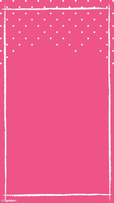 Hot pink white spots iphone background wallpaper phone lock screen