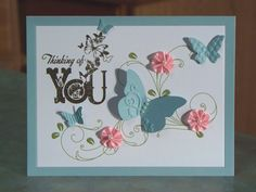 SU Beautiful Wings embosslit, (card made by Linda Throgmorton)
