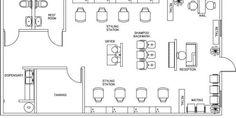 Shop plans and designs barber shop designs layout beauty salon floor plan design layout square foot . Beauty Salon Interior, Beauty Salon Design, Salon Interior Design, Beauty Salons, Layout Design, Schönheitssalon Design, Design Blogs, Design Ideas, The Plan
