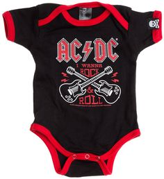 198624353a AC DC I Wanna Rock  amp  Roll Guitar Ringer One Piece Rock Roll