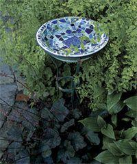 Mosaic Bird Bath with good instructions