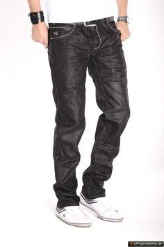 kosmo lupo jeans | Details zu Kosmo Lupo Herren Jeans Hose schwarz weiße nähte Taschen ...