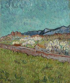 Van Gogh, View of the Alpilles, 1890. Oil on canvas, 33 x 28.5 cm