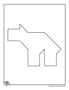 Printable Tangrams Animal Puzzles | Woo! Jr. Kids Activities Tangram Puzzles, Camping Games, Puzzles For Kids, Student Engagement, Preschool Activities, Printables, Jr, Letters, Animals