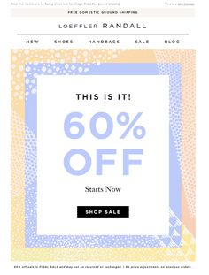 #newsletter Loeffler Randall 07.2014 This is it! 60% Off Sale Starts Now