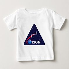 Shop NASA Orion Logo Baby T-Shirt created by ImperfectSense. Orion Spacecraft, Space Shuttle, Consumer Products, Patch, Basic Colors, Cotton Tee, 18 Months, Nasa, Infant