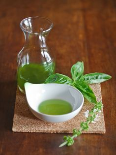Recipe: basil infused oil Ingredients 35 g / 1.2 oz. fresh basil leaves 240 ml / 1 cup sunflower oil Instructions Wash and dry basil leaves (salad spinner). Add basil and oil to your food processor or blender. Puree until very smooth. Pour into a medium saucepan, bring to a boil, then simmer for one minute. Remove from stove and strain through fine mesh sieve or a colander lined with cheesecloth or paper towel to remove small basil pieces. Fill in a jar and use for salad dressings, drizzle…