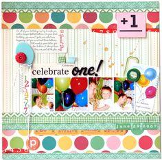 Celebrate One!...Birthday Layout