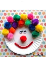 75 Paper plate crafts for kids with pictures. Kids crafts with paper plates for every occasion: animals, hats, activities, holidays, masks and much more! Kids Crafts, Clown Crafts, Paper Plate Crafts For Kids, Daycare Crafts, Craft Activities For Kids, Summer Crafts, Preschool Crafts, Projects For Kids, Arts And Crafts