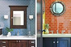 Perini: A guide to selecting the right subway tiles for your bathroom Bathroom Showrooms, Bathroom Renos, Bathrooms, Tile Showroom, Subway Tiles, Layout Design, The Selection, Mirror, House Styles
