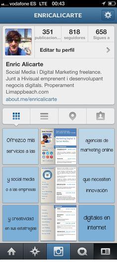 Mi #curriculum en Instagram dedicado a las #agencias de #marketingonline y #socialmedia de #Barcelona, que necesiten innovación y #creatividad en sus estrategias digitales en internet y en las redes sociales. Contrátame ya, no esperes más