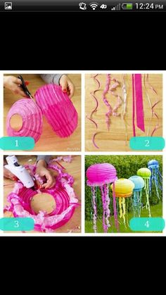 Lantern Jelly fish. Great for Under the Sea Camp for Preschoolers