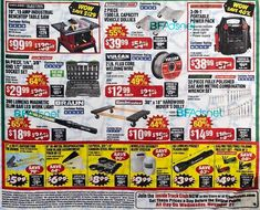 Harbor Freight Black Friday 2018 Ads and Deals Browse the Harbor Freight Black Friday 2018 ad scan and the complete product by product sales listing. Black Friday Laptop Deals, Black Friday 2013, Black Friday Store Hours, Harbor Freight Tools, Deal Sale, Thanksgiving, Coupons, Thanksgiving Tree, Coupon