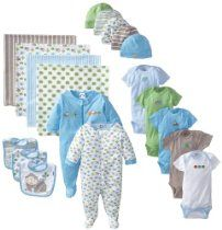 Gerber Baby-Boys Newborn 19 Piece Newborn Essentials Gift Set