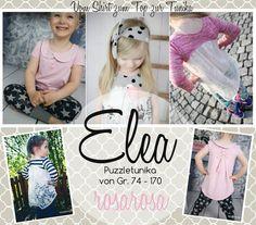 "Ebook+""Elea""+-+Puzzle+Tunika+von+74+-+170+von++rosarosa+auf+DaWanda.com"