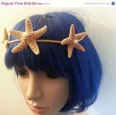 SALE Starfish Starfish headband Beach wedding by msformaldehyde, $11.70