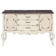 At home in your entryway or stowing linens in the dining room, this handmade wood cabinet brims with country-chic appeal.  Product:...