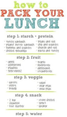 Healthy lunch ideas for the day
