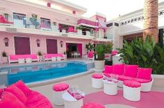 pink, house, and pool afbeelding Dreamhouse Barbie, Girl Bedroom Designs, Girls Bedroom, Bedroom Ideas, Trendy Bedroom, Awesome Bedrooms, Cool Rooms, Dream Rooms, Dream Bedroom