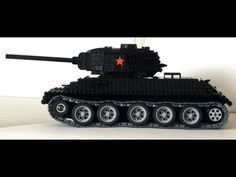 Lego RC T-34-85 tank with PF