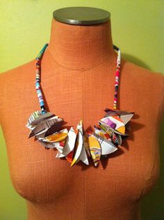 Paper Jewelry Necklace