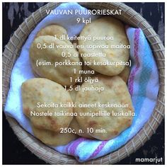 Vauvan puurorieskat Baby Puree Recipes, Baby Food Recipes, Cooking Recipes, Toddler Meals, Kids Meals, Salat Al Fajr, Fingerfood Baby, Baby Snacks, Baby Finger Foods