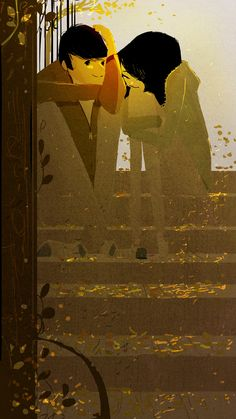 Romance on the steps...(Pascal Campion)