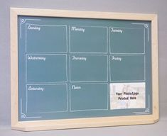 Framed Wall Calendar framed dry erase board and cork board command center - black