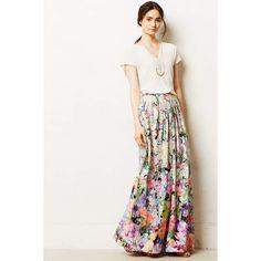 Ranna Gill Firefleur Maxi Skirt found on Polyvore