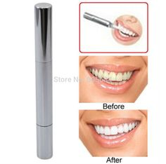 New 1PCS Silvery White Teeth Whitening Pen Bleach Stain Eraser Tooth Gel Whitener Remove Instant Care Oral Hygiene