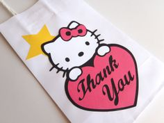 6 Hello Kitty Theme Party Favor Bags Goody by FeistyFarmersWife, $12.00