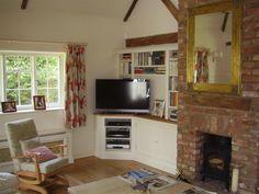 Corner TV bookcase