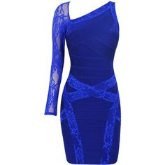 INDIA COBALT BLUE LACE BANDAGE DRESS HLBD231 ($177) ❤ liked on Polyvore featuring dresses, short dresses, blue, vestidos, bandage dress, lace mini dress, short bandage dress and lacy dress