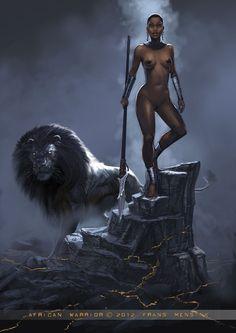 """African Warrior"" by Frank Mensink"