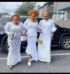 African Lace Styles, Ankara Styles, White Lace, White Dress, African Blouses, African Print Fashion, Bridesmaid Dresses, Wedding Dresses, African Women